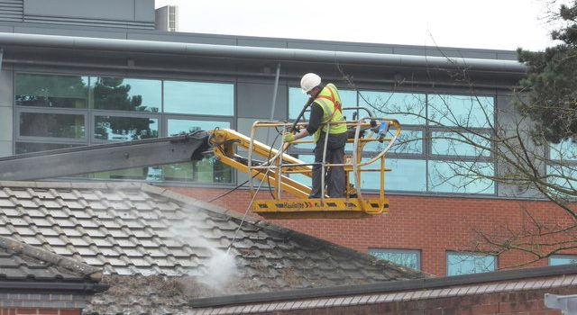 commercial roof cleaning
